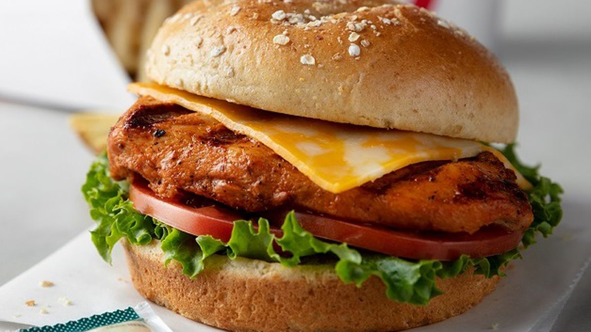 Grilled Spicy Deluxe sandwich from Chick-fil-A