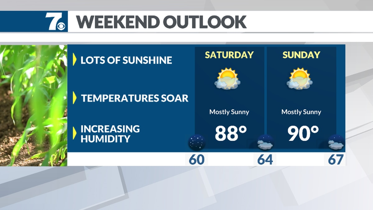 We should see a good amount of sunshine this weekend with just a stray storm.