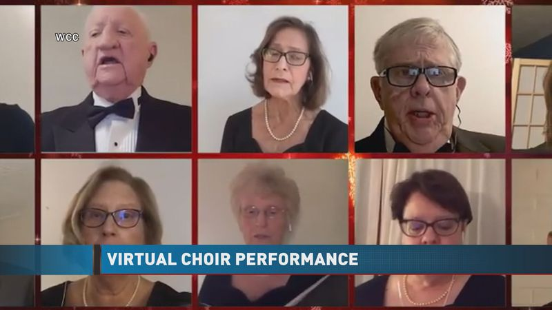 The choir isn't able to perform the holiday concert, but did come together virtually for this...