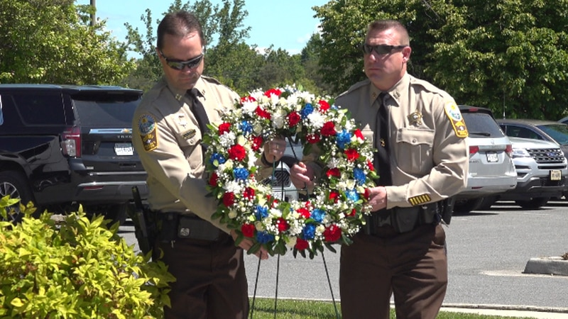 The Campbell County Sheriff's Office held the ceremony outside their building Thursday.