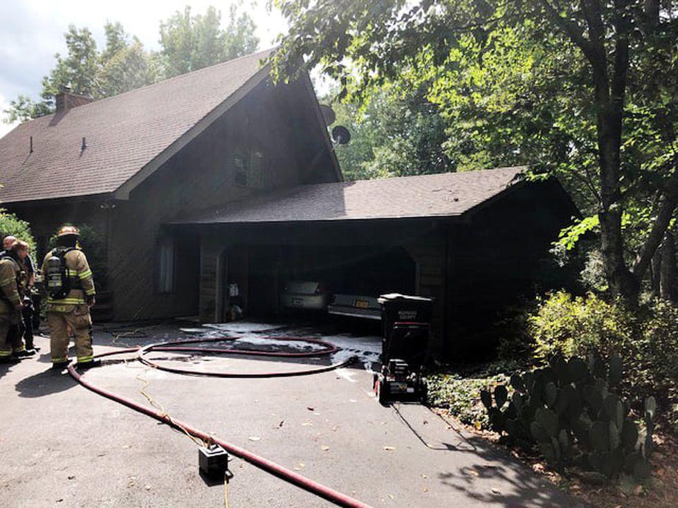 Fire on Laurel Mountain Drive in Roanoke County