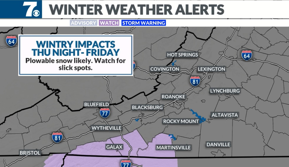This area is where some of the heaviest snow and greatest impacts are likely to occur.