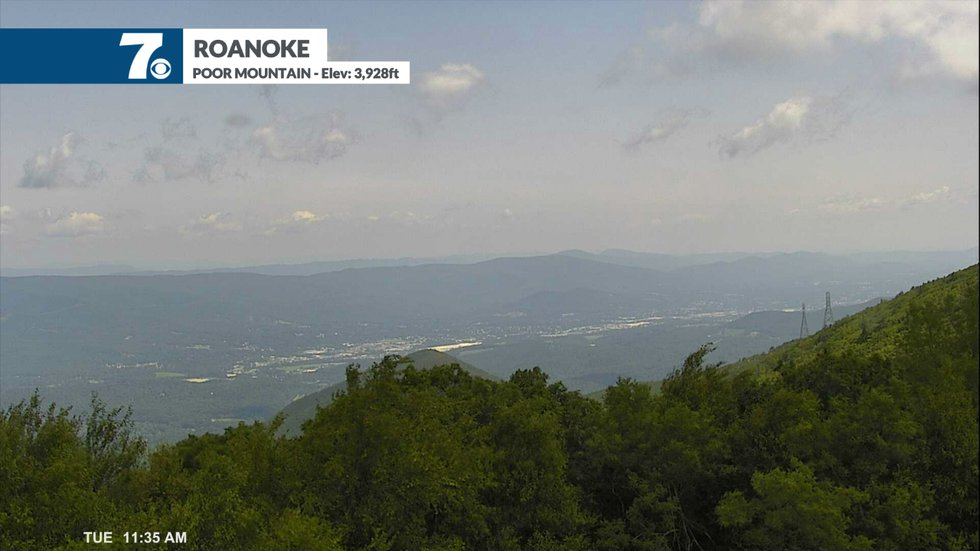 Smoke has made its way across the country to the east coast giving a hazy view in the sky.