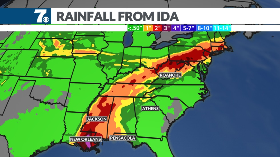 Ida could bring heavy rain into our region this week.