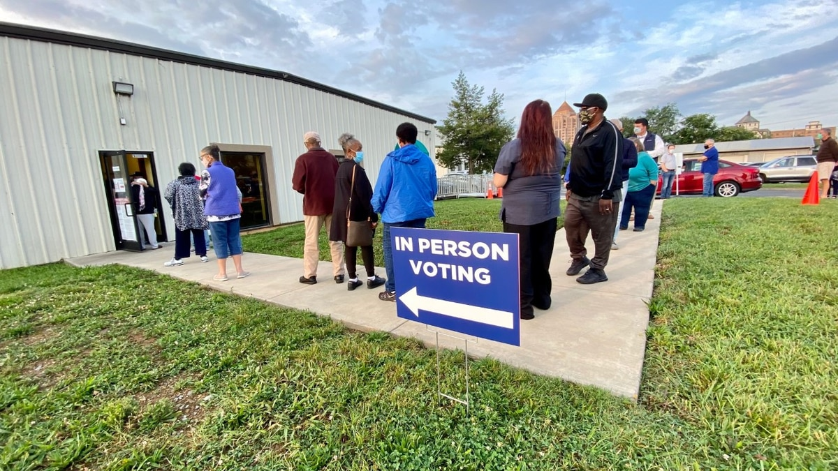 More than 700 people cast ballots in Roanoke on the first day of early voting in Virginia.
