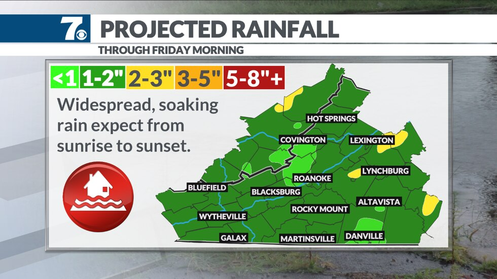 A soaking rain arrives Christmas Eve and will continue through around midnight before tapering...