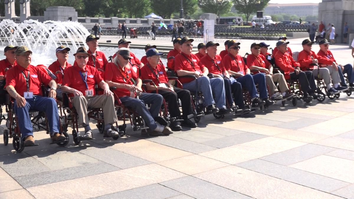 The Friends of the National WWII Memorial honored 37 World War II veterans on Thursday, the 75th anniversary of D-Day. (Source: Gray DC)