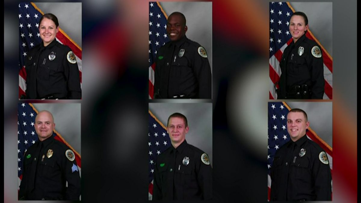 The Metropolitan Nashville Police Department has identified six officers whose actions they say...