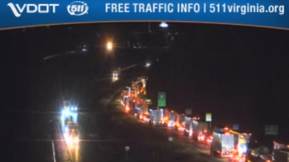 Crash on I-81 snarls traffic