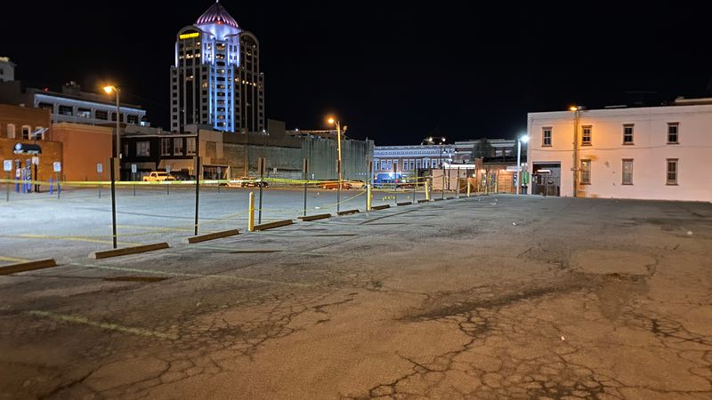 This is what the parking lot looked like at 3 a.m. on Sunday morning following a shooting that...