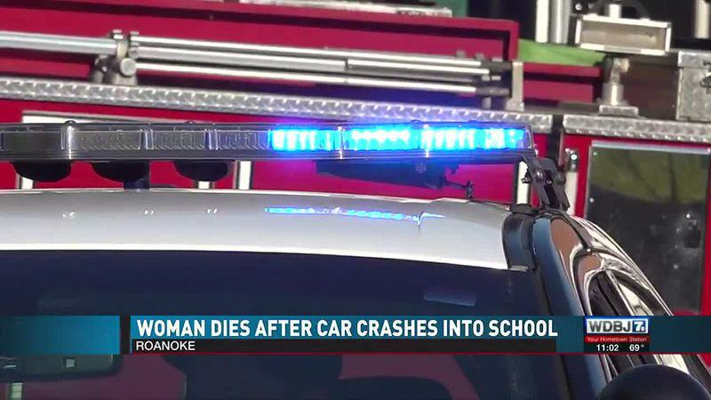 Woman Dies after Car Crashes into School