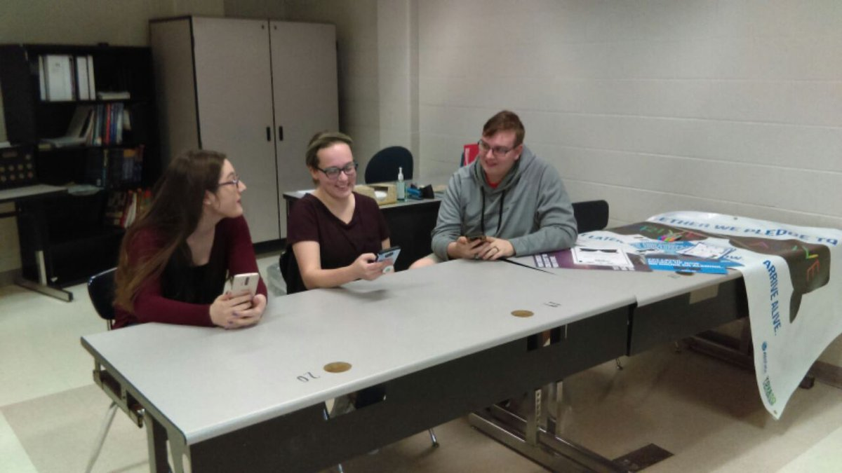 Members of Hidden Valley's Prevention Club gather to work on Arrive Alive campaign