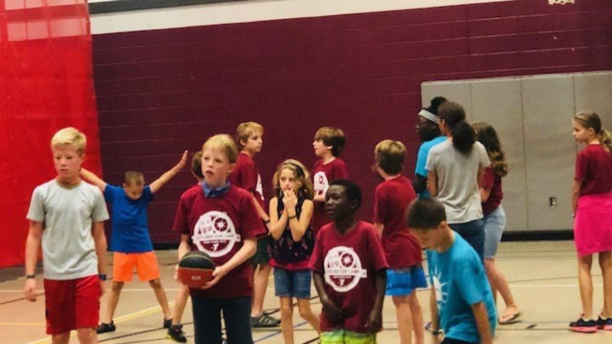 Kids enjoying basketball and other activities at Salem YMCA