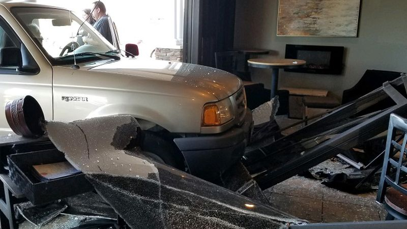 A driver crashed into Remini's Restaurant in Roanoke County