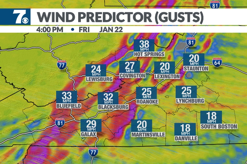 We'll see wind gusts in the 20-30mph range through the afternoon. They turn light overnight.