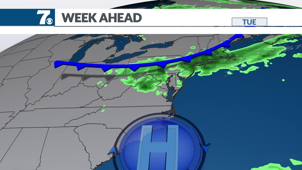 A cold front brings changes for the end of the week.