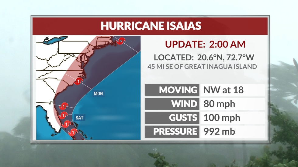 The latest on Hurricane Isaias