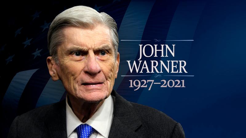 Former Virginia Sen. John Warner died May 25 at the age of 94.