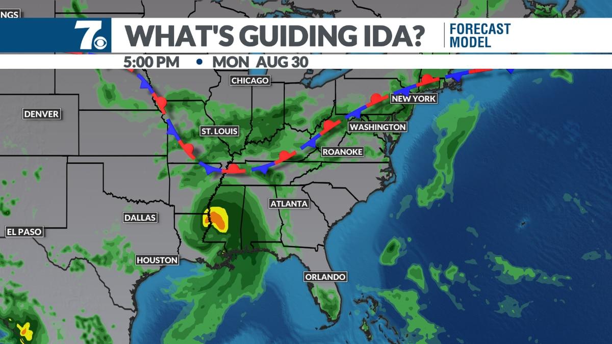 Heavy rain likely midweek.