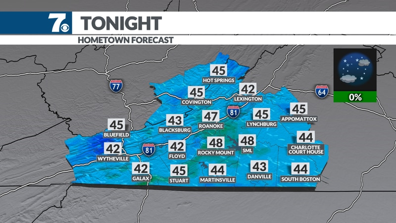 Clear and chilly overnight.