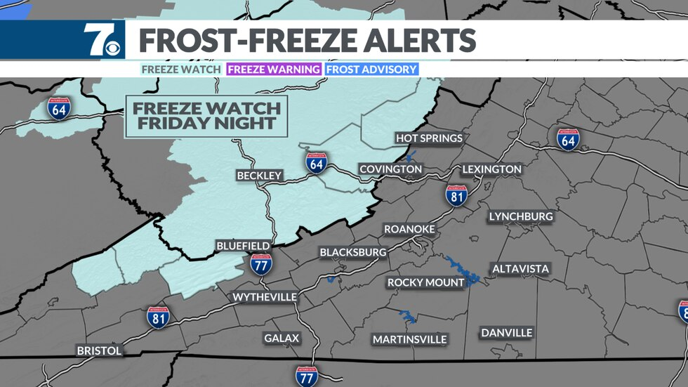 Lows may fall into the 20s deep into the mountains.