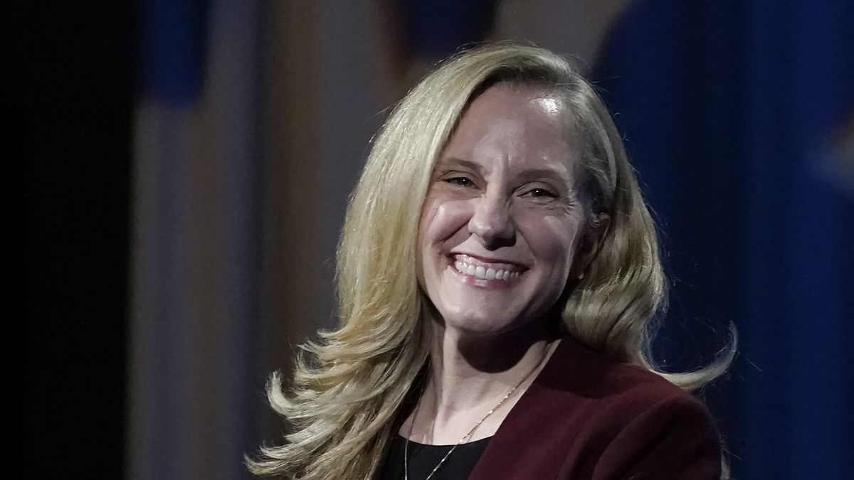 U.S. Rep. Abigail Spanberger, D-Va., smiles during a Chamber RVA sponsored candidate forum with...