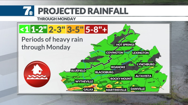 Flooding remains possible through Sunday.