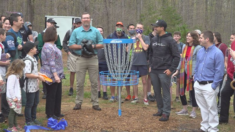Bedford County opened its fifth disc golf course Friday morning.