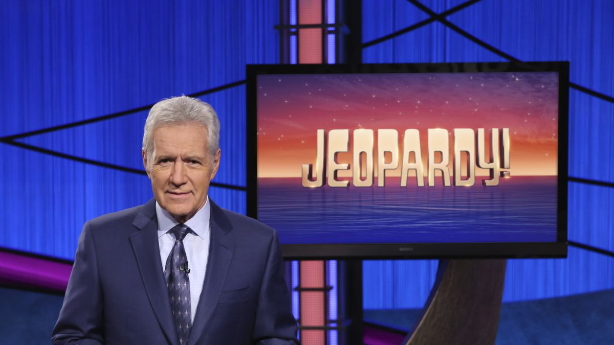"FILE - This image released by Jeopardy! shows Alex Trebek, host of the game show ""Jeopardy!""..."