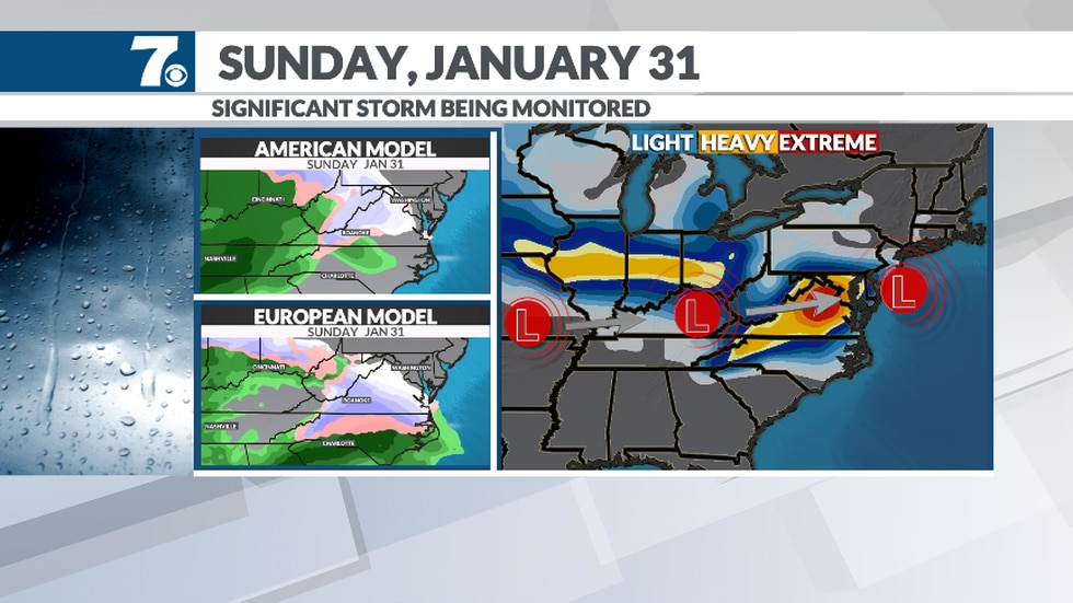 We're watching for the threat of a larger winter storm Sunday.