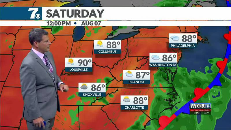 Clouds return Saturday which may hold temperatures down.