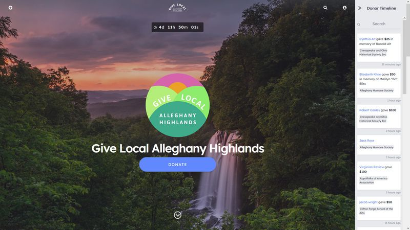 The Alleghany Foundation web page