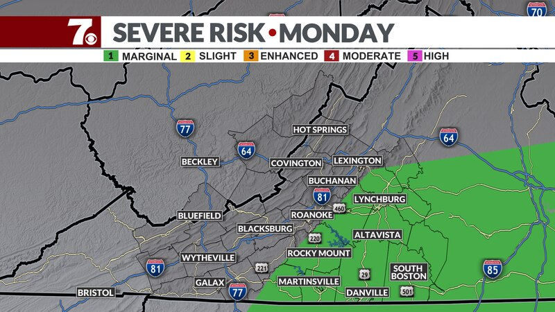 Damaging winds and localized flooding the main risks.