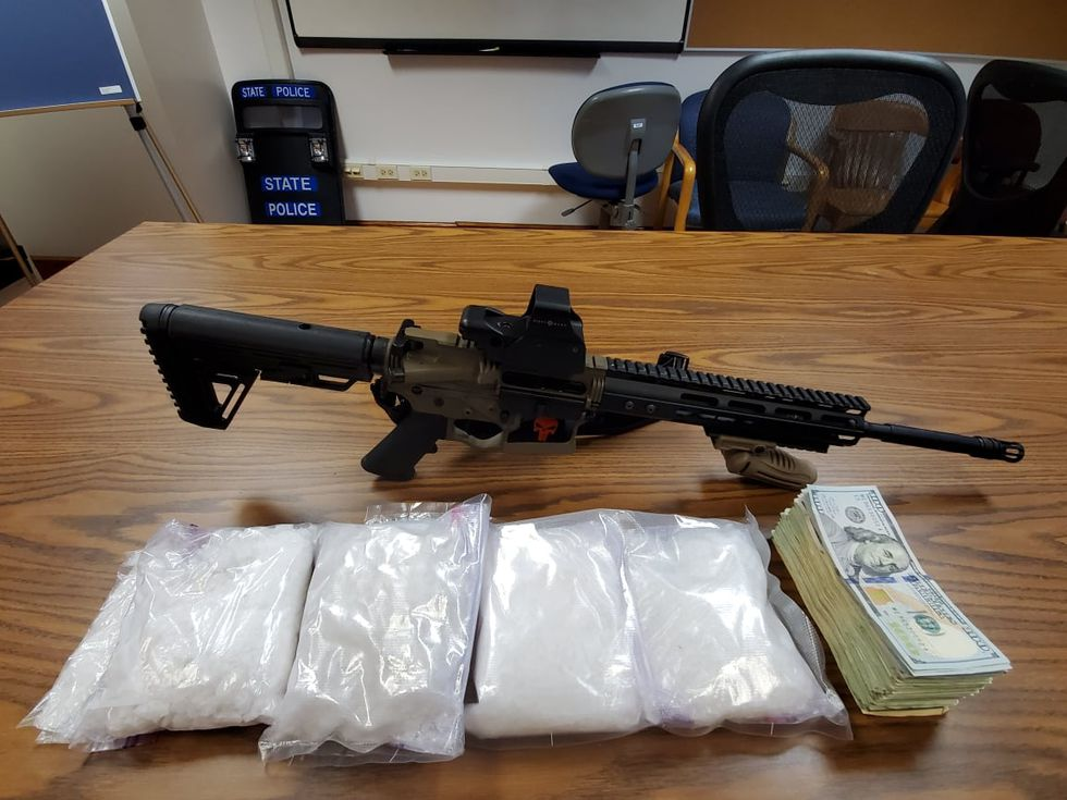 Items seized from an apartment in Madison Heights, Virginia. Courtesy Amherst County Sheriff's Office.