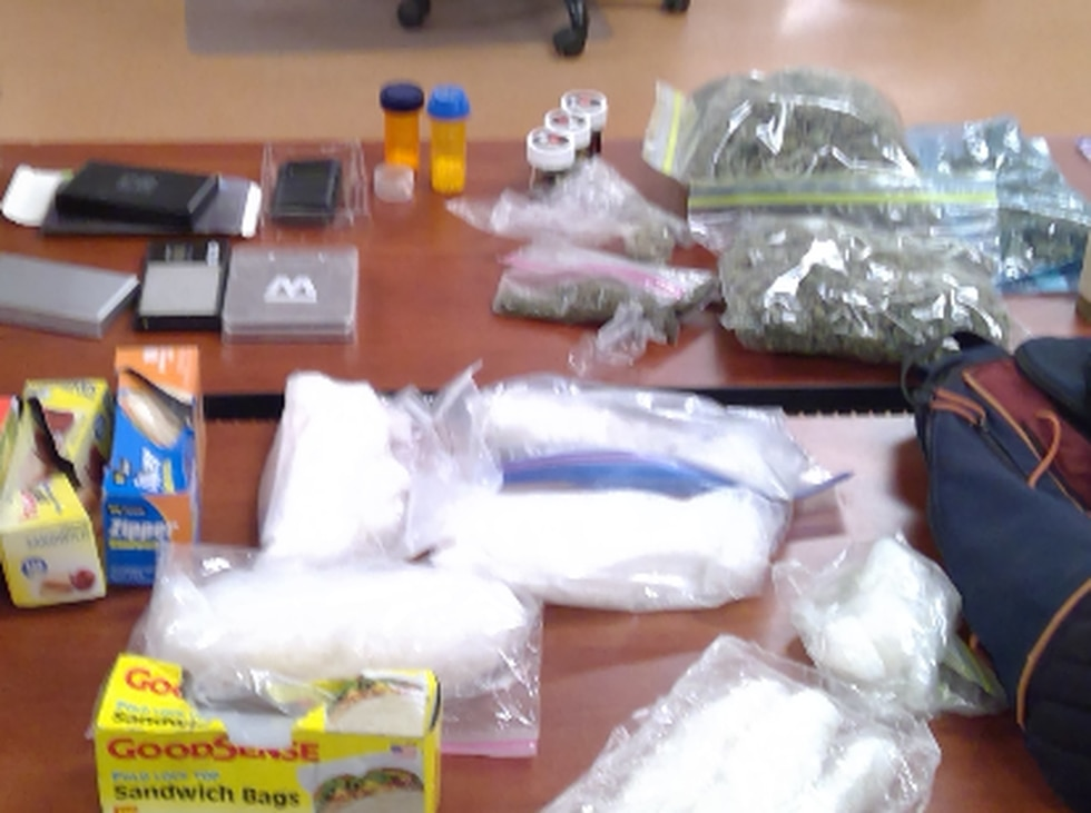 Drugs seized during the search warrant.