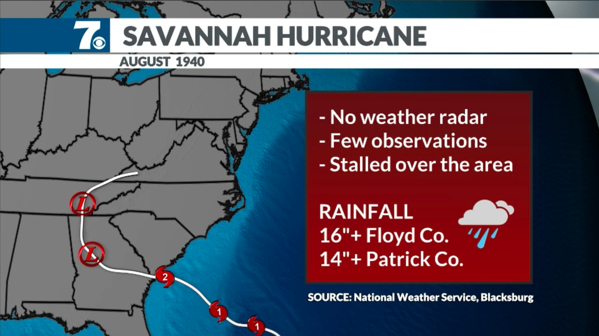The Cat. 2 hurricane struck near Savannah, Georgia then moved inland, stalling over Virginia.