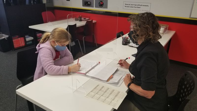 One-on-one instruction offered both at the Mathnasium and online