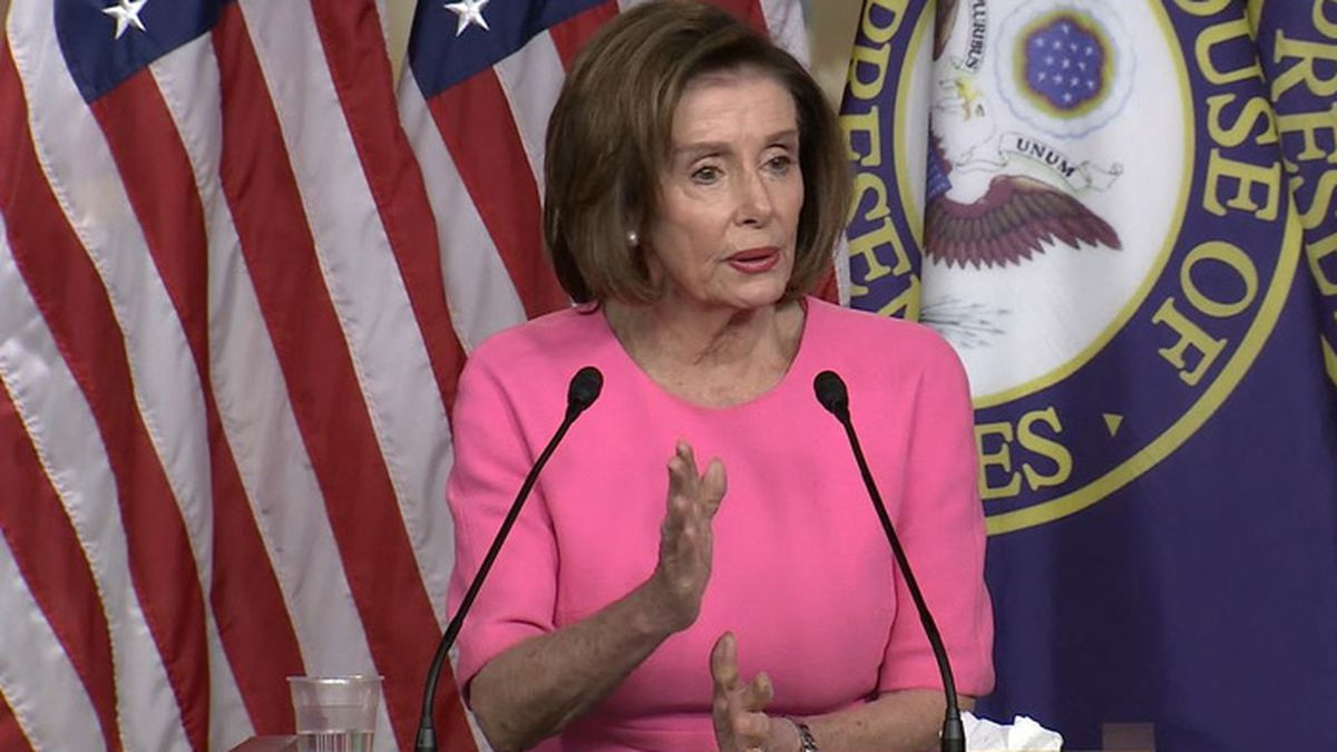 Speaker of the House Nancy Pelosi said Wednesday the $2.2 trillion coronavirus aid plan has...