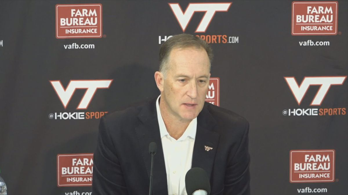 Virginia Tech Athletic Director Whit Babcock addresses the state of the Hokies' football...