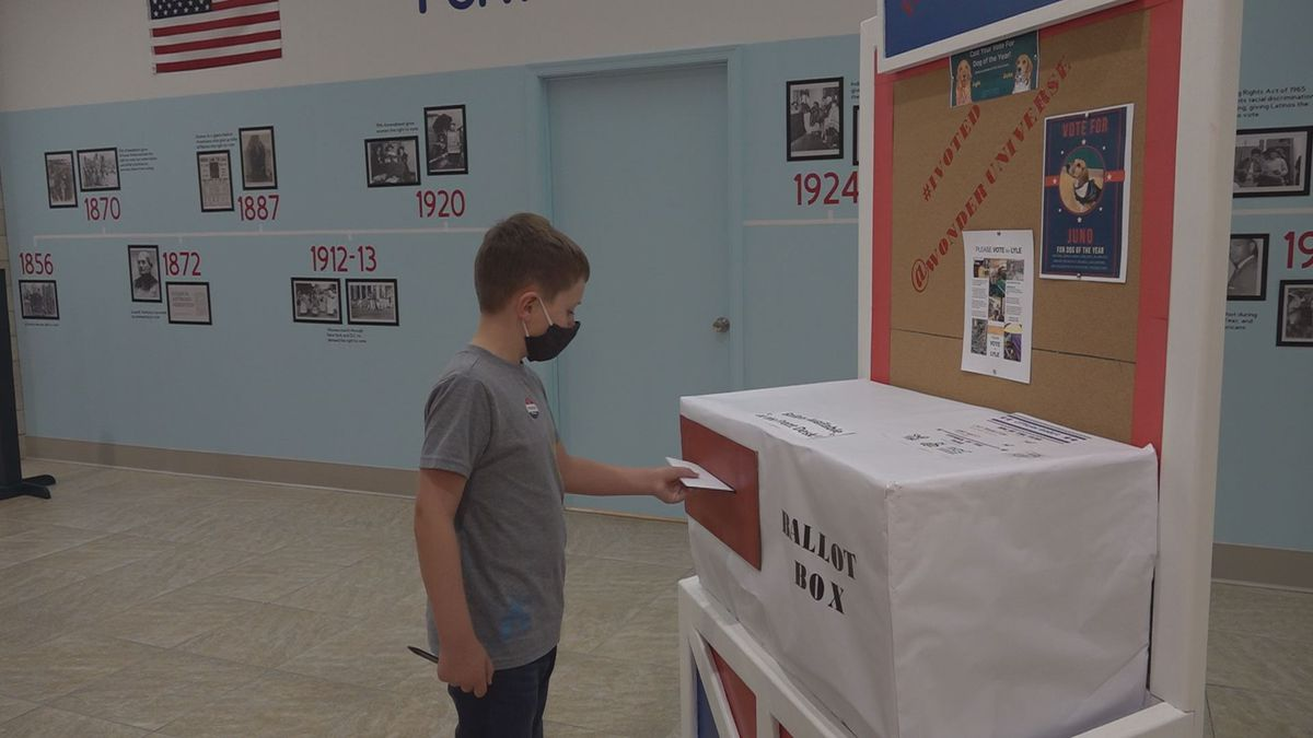 The kids may not be able to vote for elected officials, but they can vote for the local dog of...