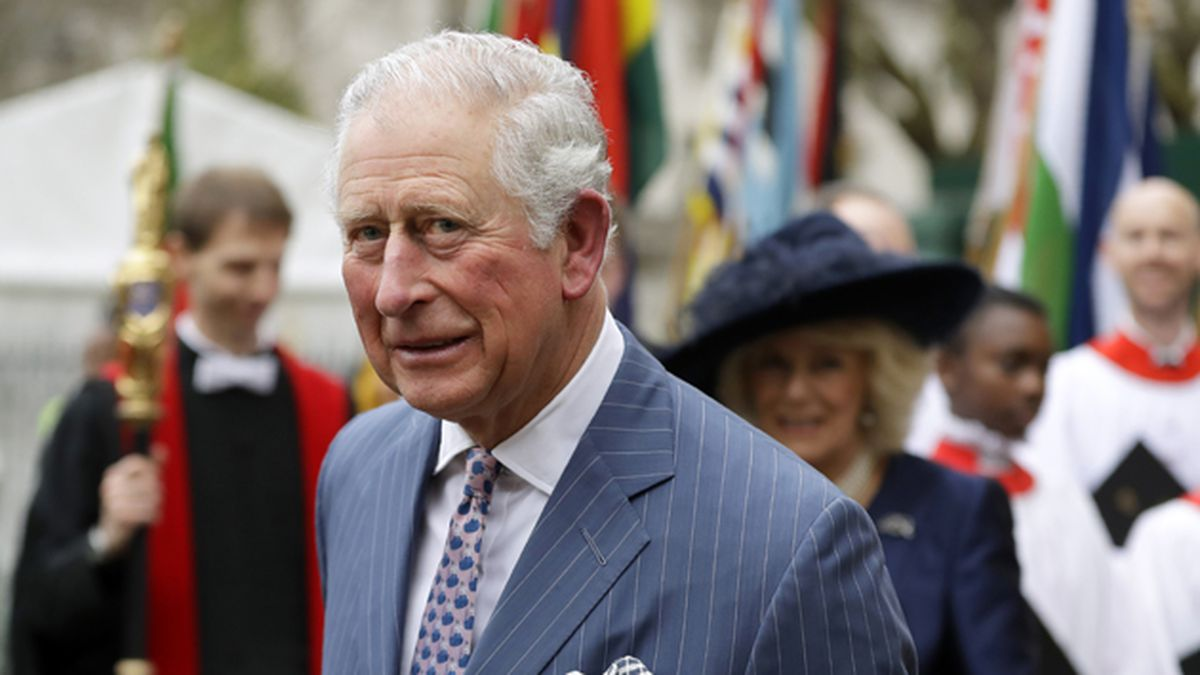 In this Monday, March 9, 2020 file photo, Britain's Prince Charles and Camilla the Duchess of...