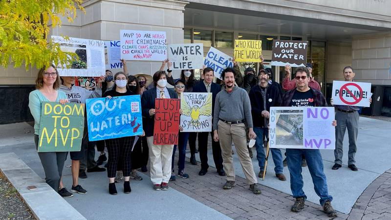 Opponents of the Mountain Valley Pipeline face charges, stemming from a protest in Montgomery...