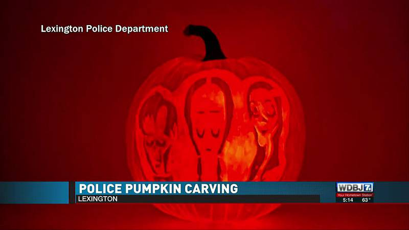 Lexington Police Pumpkin Carving