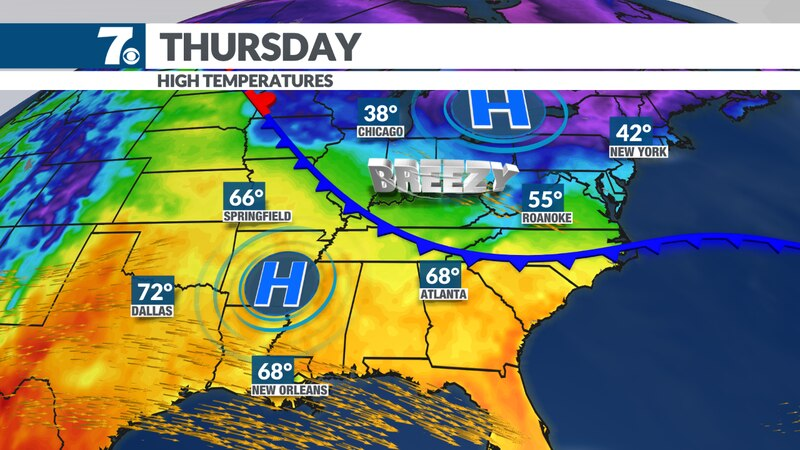 A weak boundary will bring in cooler weather Thursday into the weekend.