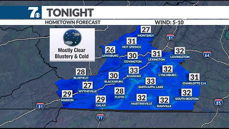 We'll see another cold night tonight.
