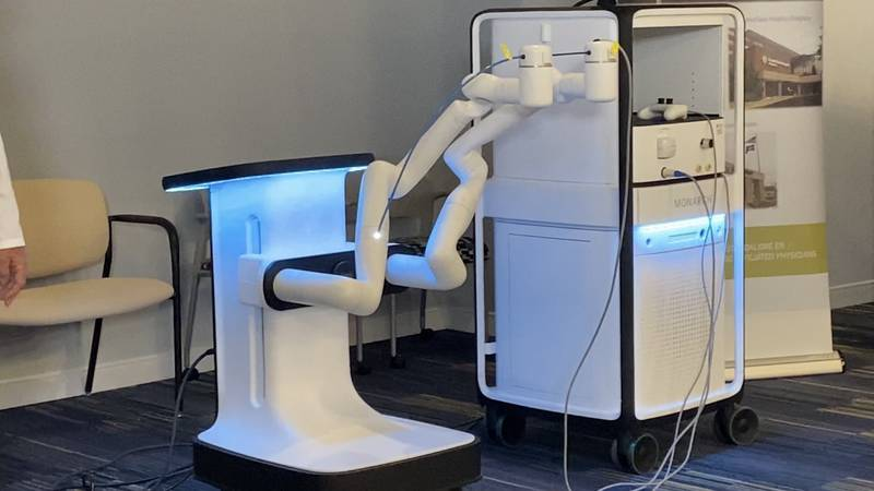 Officials with LewisGale Medical Center say the machine provides continuous, direct vision for...