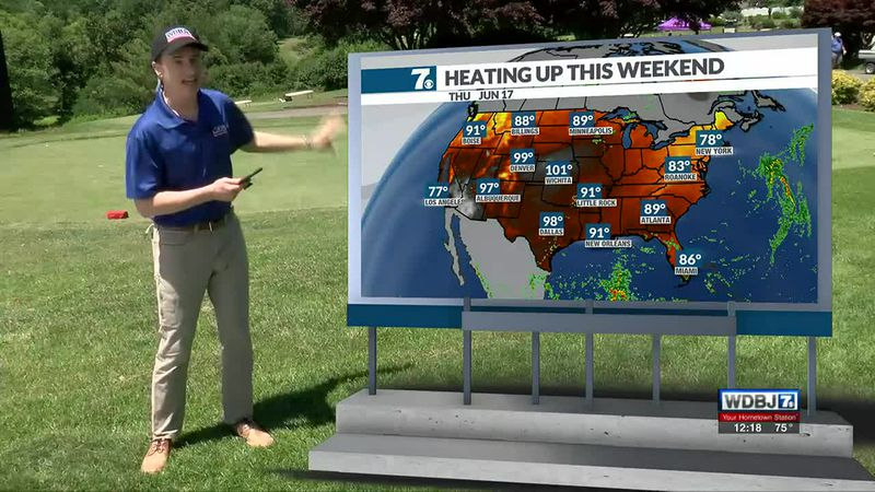 Temperatures return to the low 90s by the Father's Day Weekend.