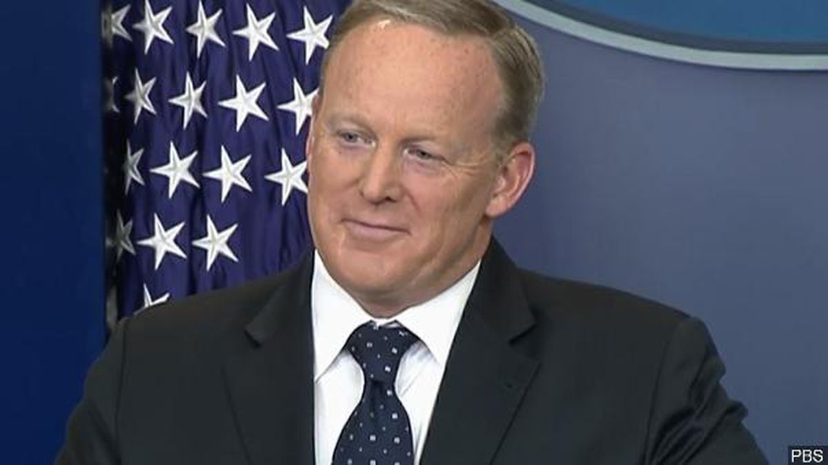 Sean Spicer, serving as White House Press Secretary, meets the press during a briefing at The White House on June 20, 2017.