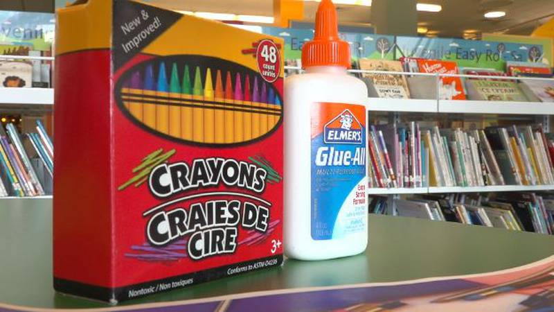 People can drop-off school supplies at any of the library branches and receive fine forgiveness.