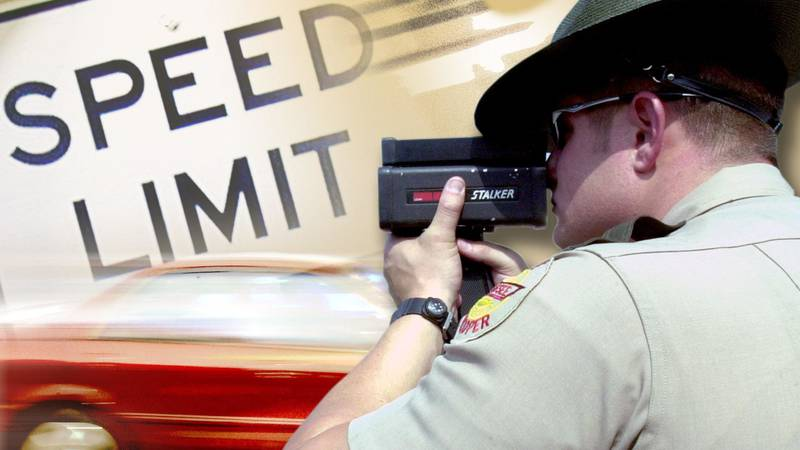 Speed limit enforcement graphic